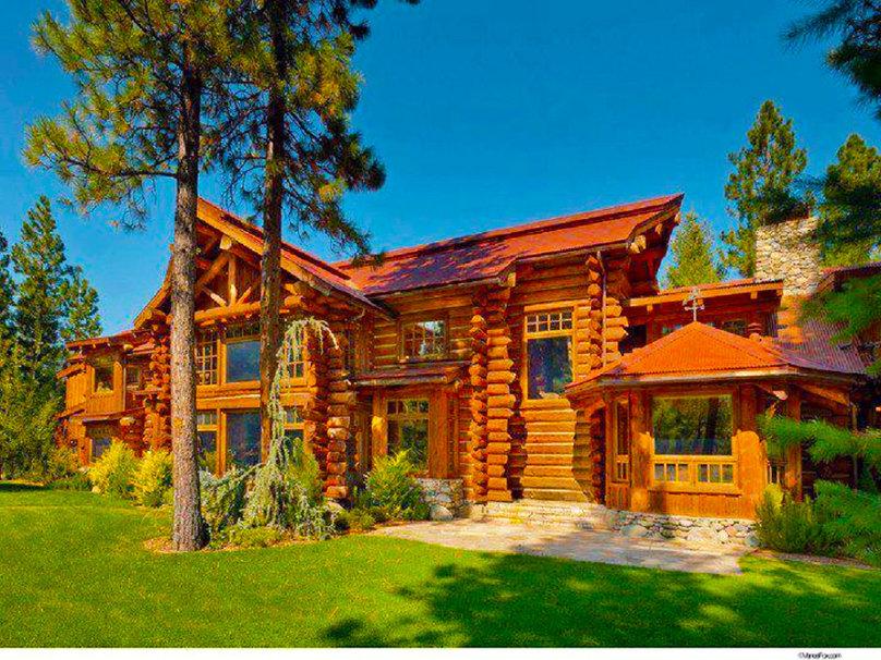 cabane en bois rond Wallpaper   ForWallpapercom 808x606