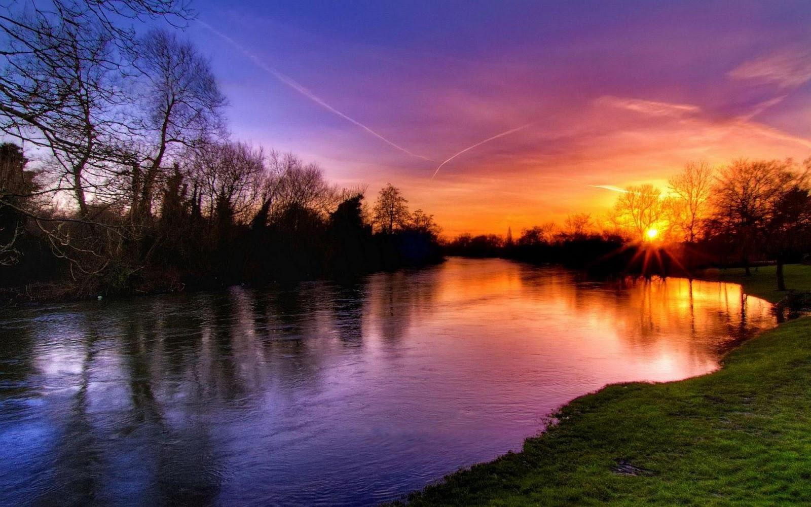 HD Wallpapers Lake Sunsets  WallpaperSafari