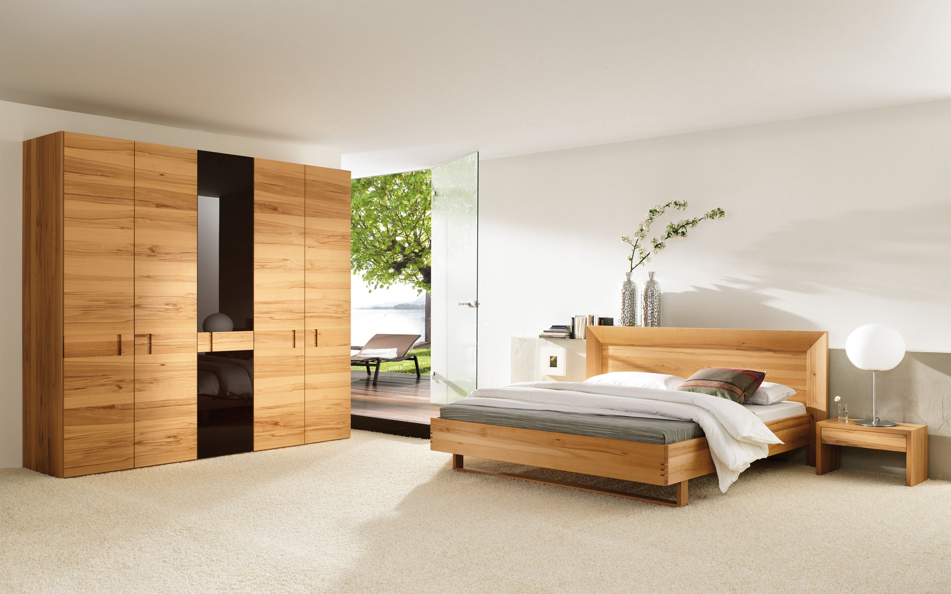 Bedroom Wardrobe Style Wooden   Stock Photos Images HD 1920x1200