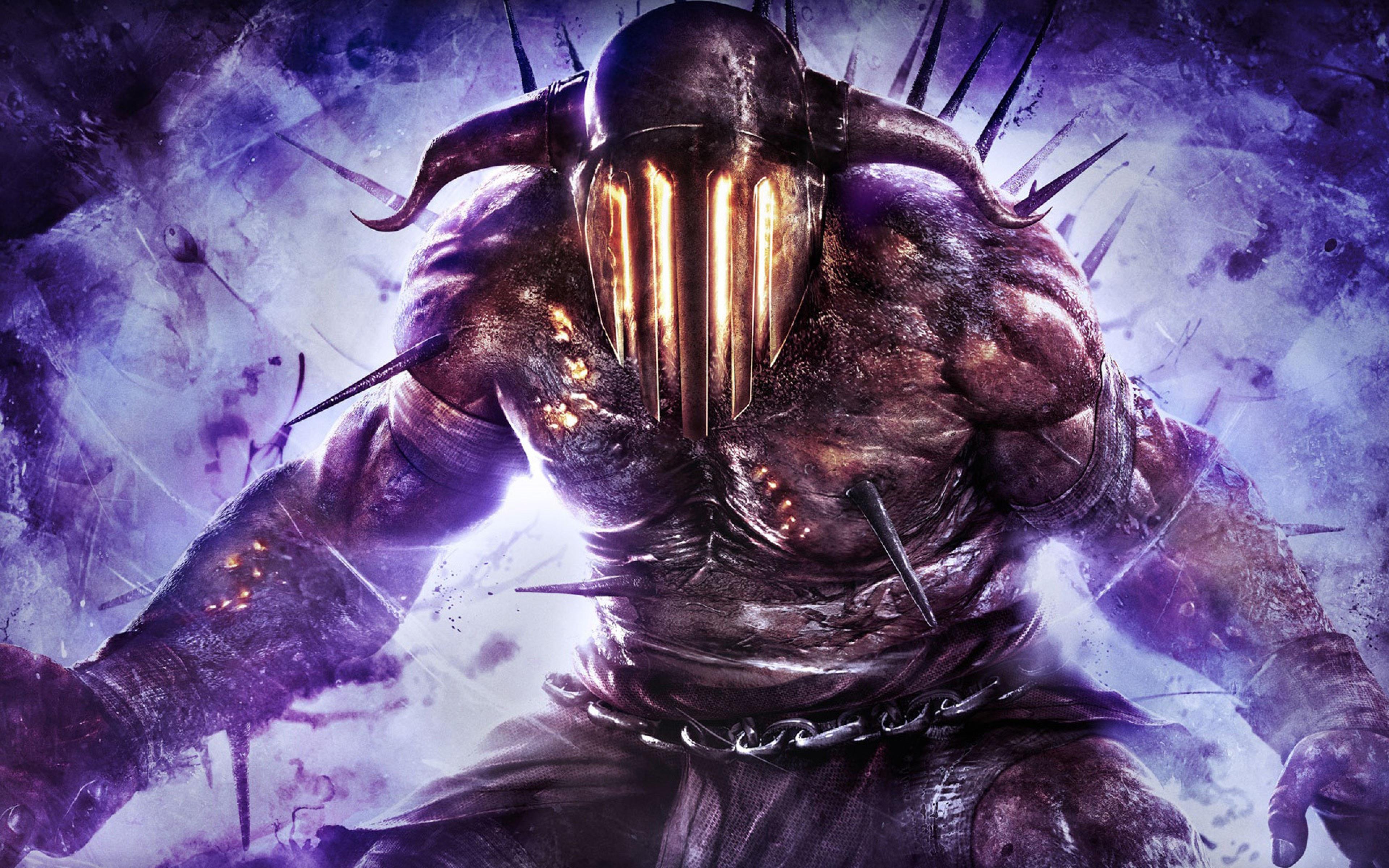 God Of War Ascension Hades Art Purple Devil Character Game 3840x2400