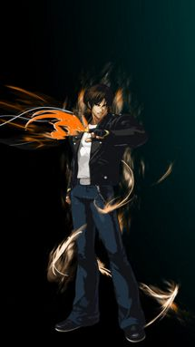 Download Kyo Kusanagi wallpapers to your cell phone   kof 215x383