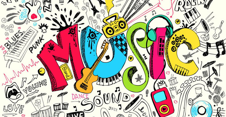 Designs Music Music Abstract Wallpaper 769x400