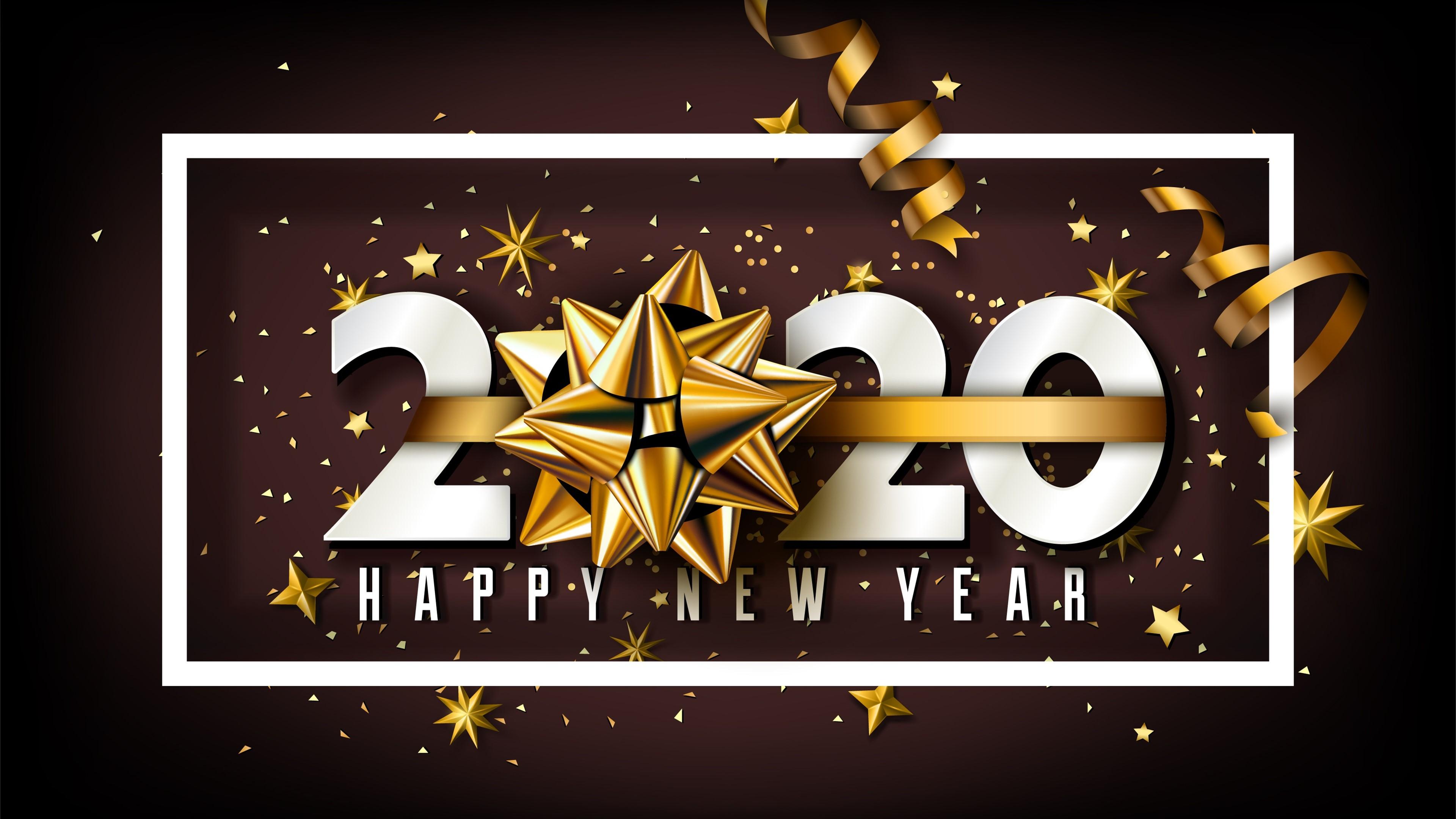 4K Golden New Year 2020 HD Desktop Wallpaper 48708   Baltana 3840x2160