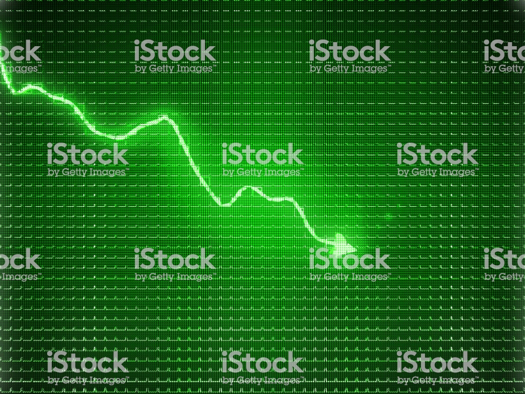 Green Trend Graph As Symbol Of Business Contraction Or Financial 1024x768