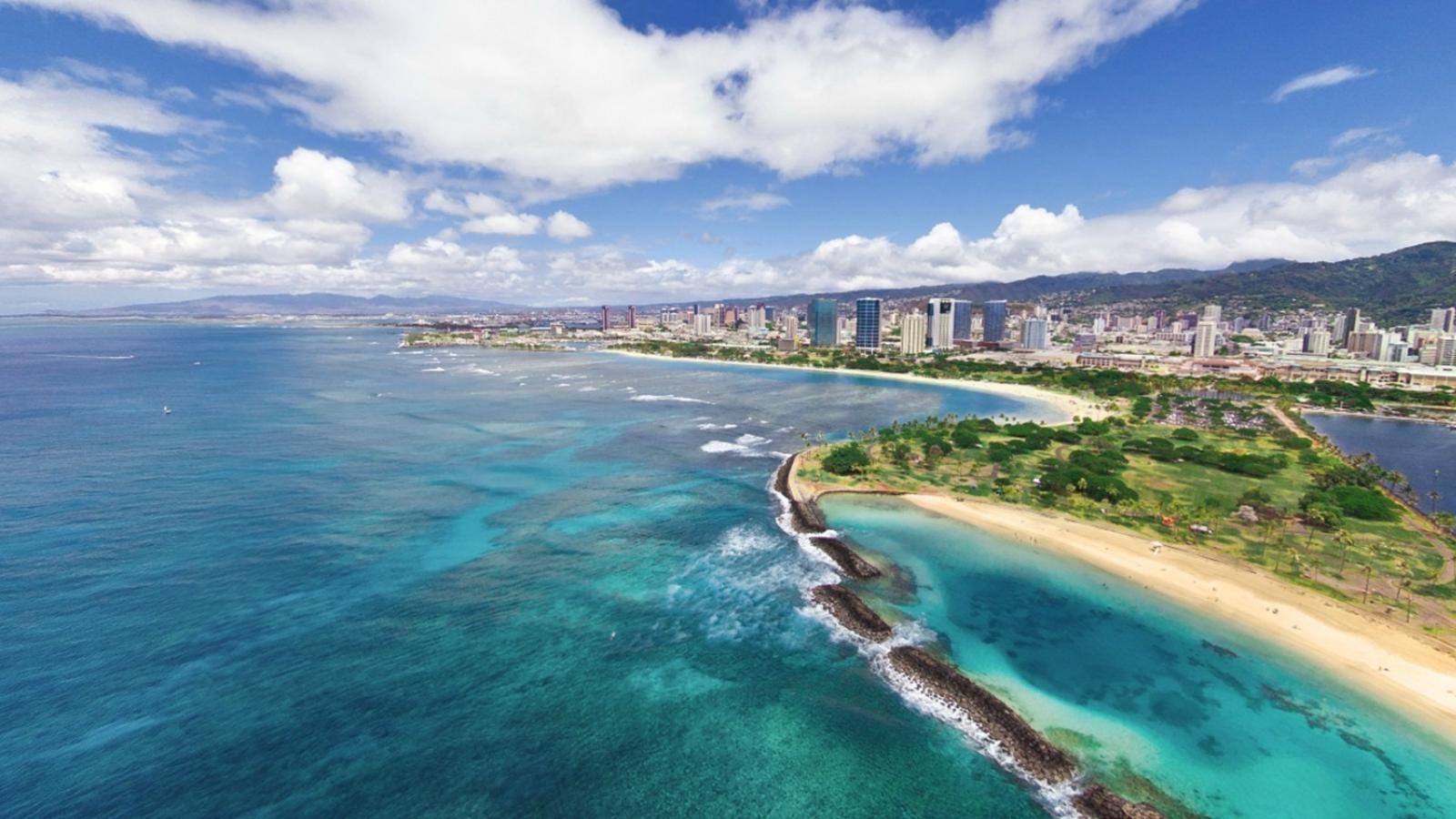 clouds landscapes cityscapes hawaii oahu beach wallpaper 59643 1600x900