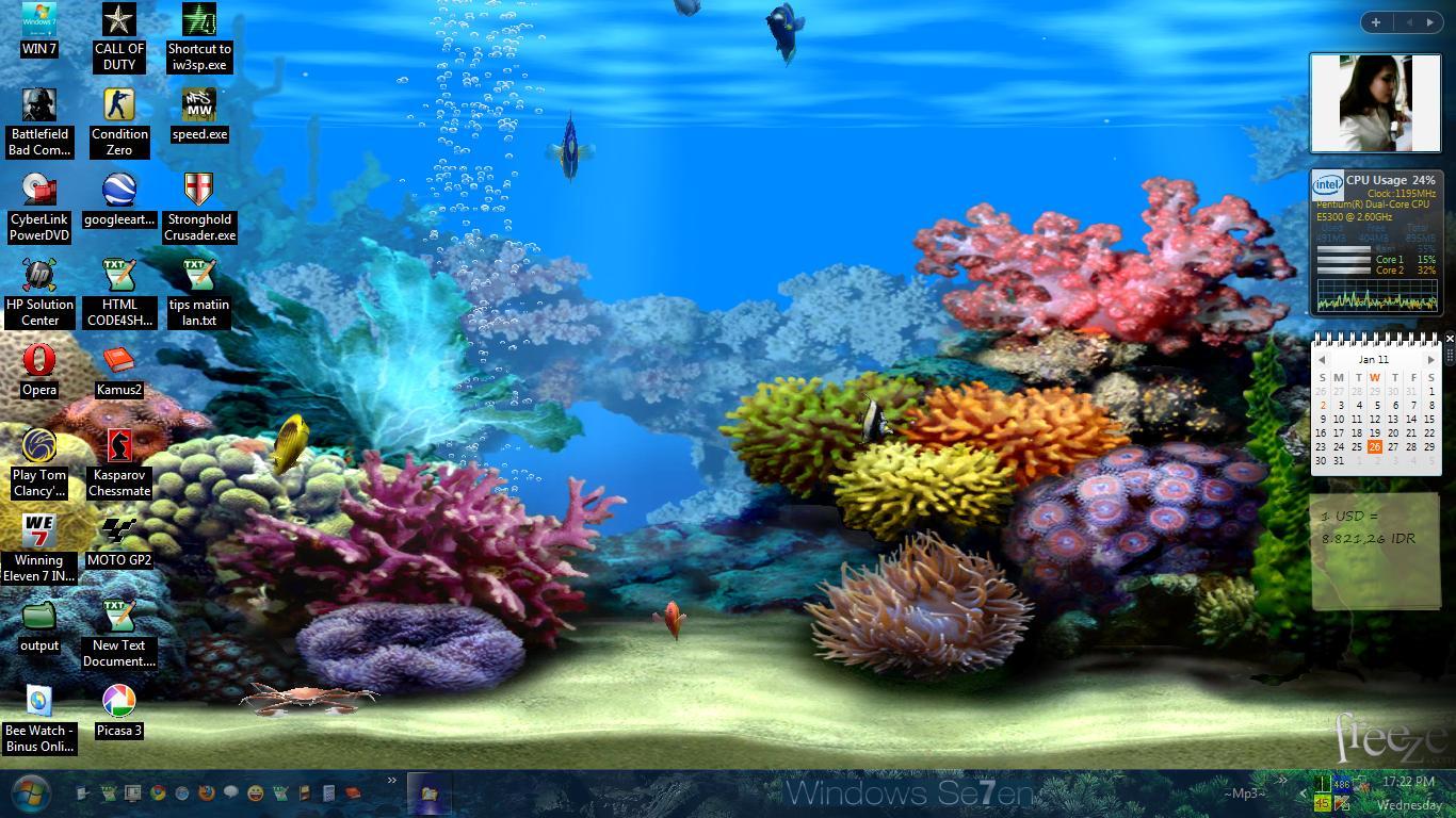 Скринсейвер подводный мир 3d