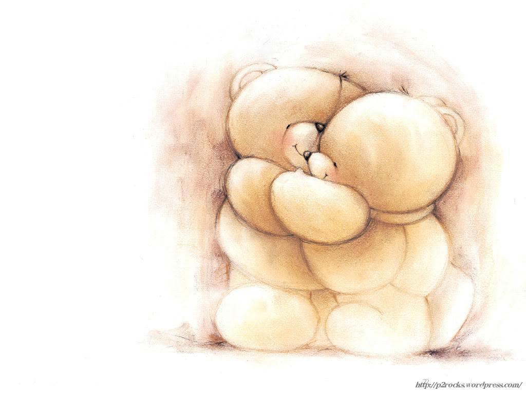 bear hug cartoon wallpaper 1024x768 Idle Ramblings 1024x768