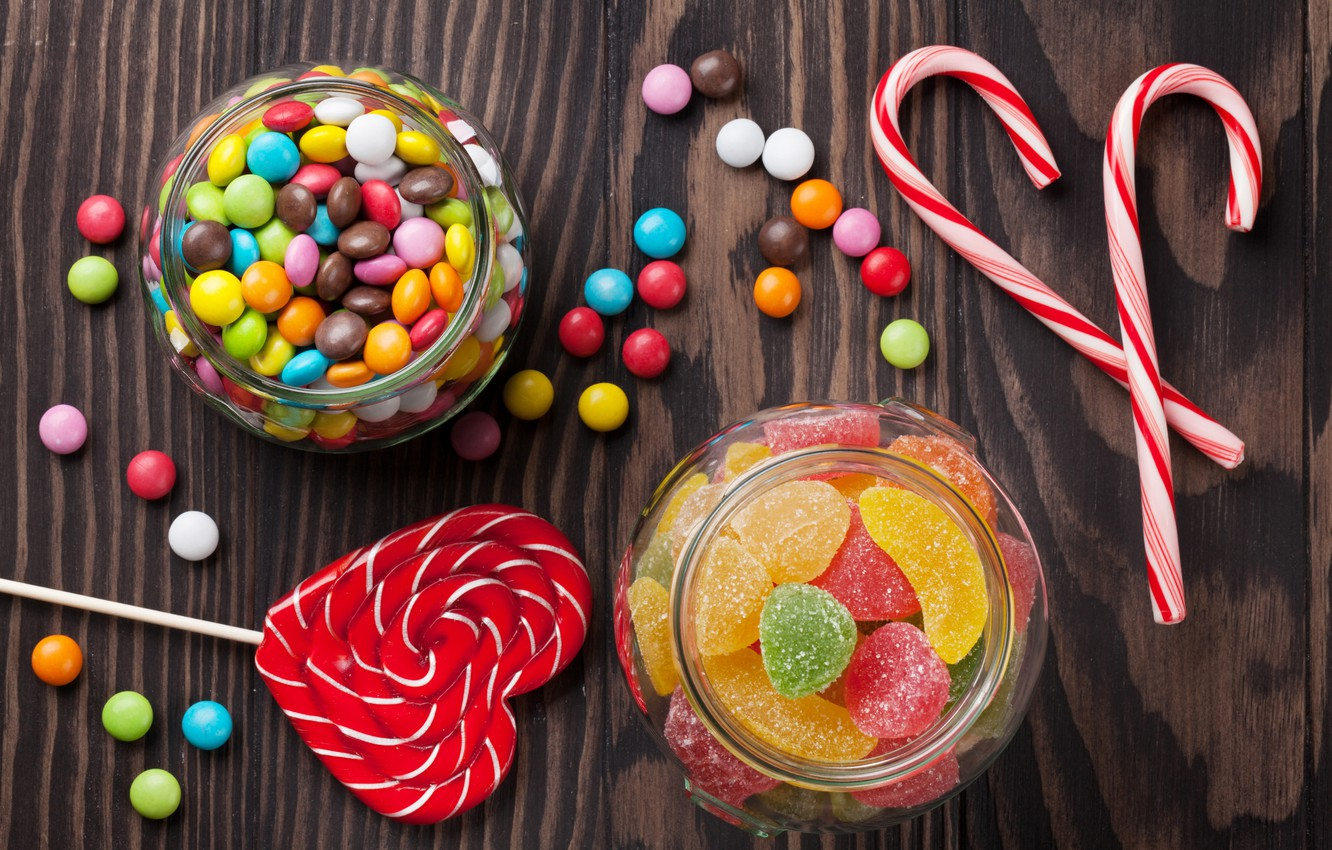 Wallpaper colorful candy sweets lollipops sweet marmalade 1332x850