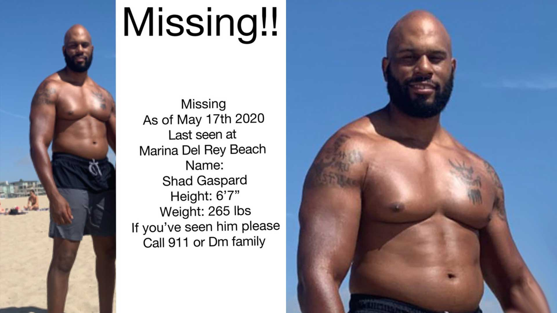 Former WWE Star Shad Gaspard Missing After Swimming at Venice 1920x1080