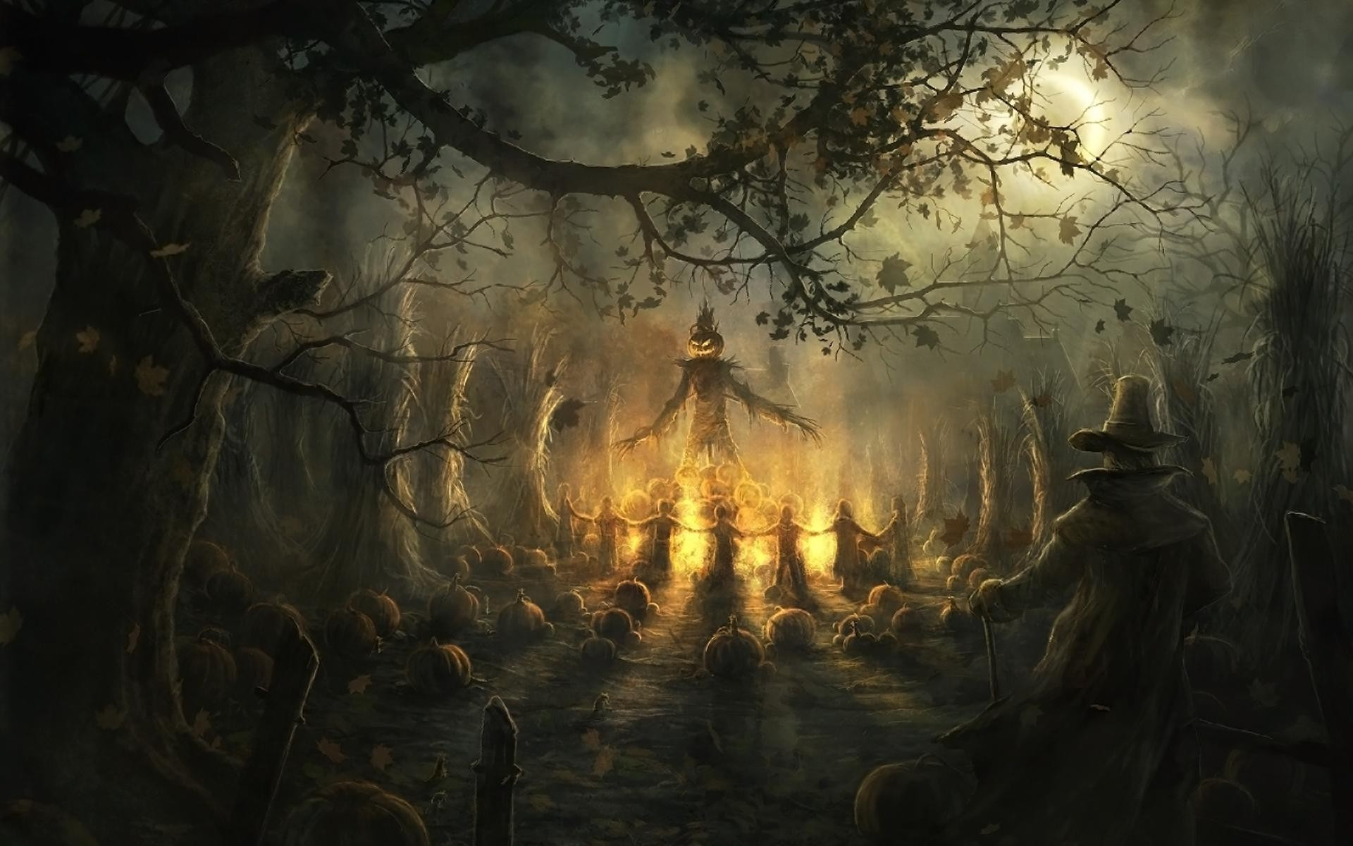 halloween scarecrow holiday hd wallpaper Wallpaper 1920x1200
