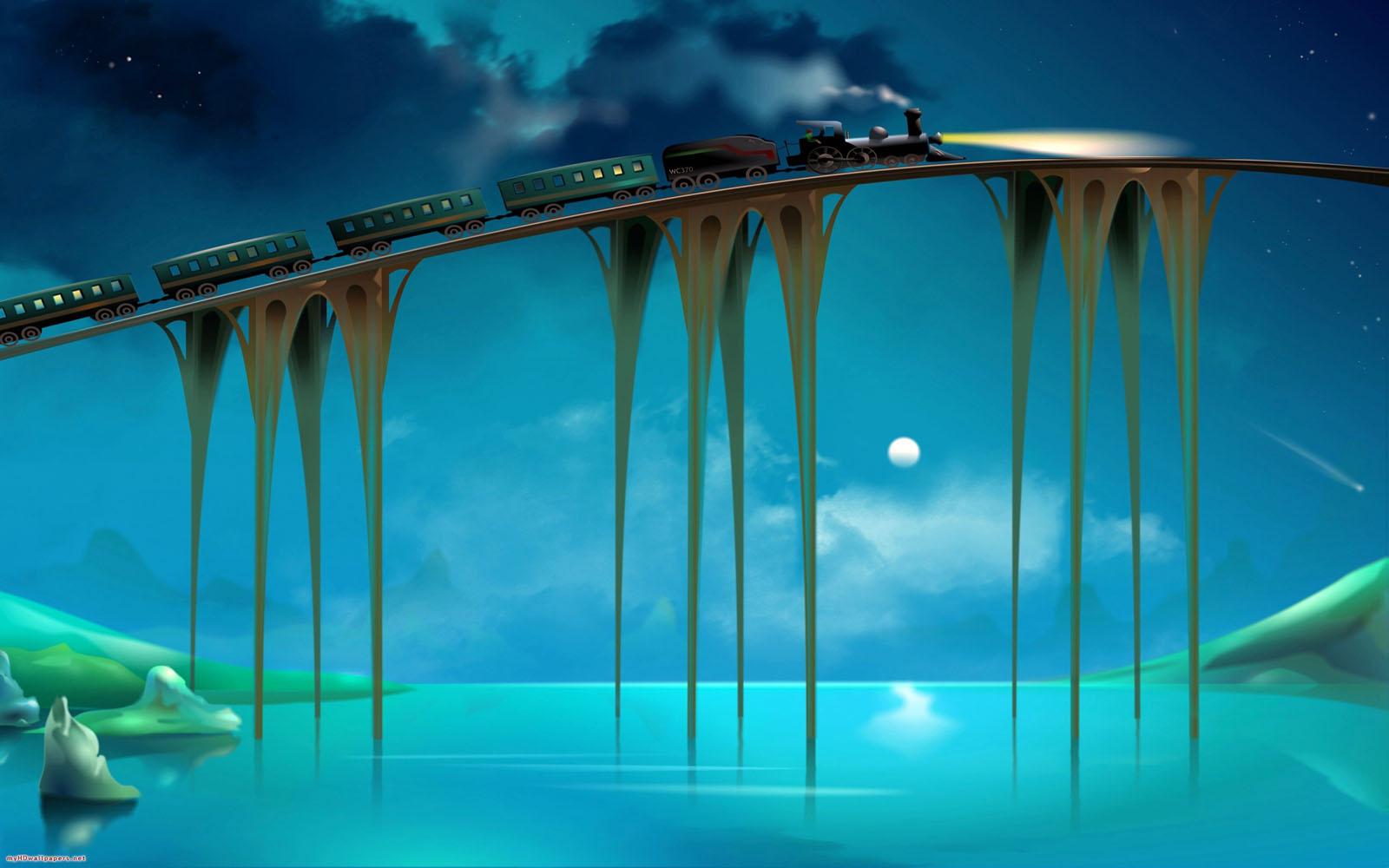 Amazing Train Journey Wallpaper 1600x1000