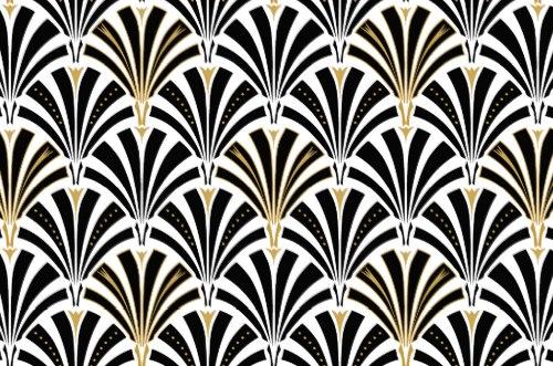 Free Hy Vintageart Deco Fan Pattern Black And