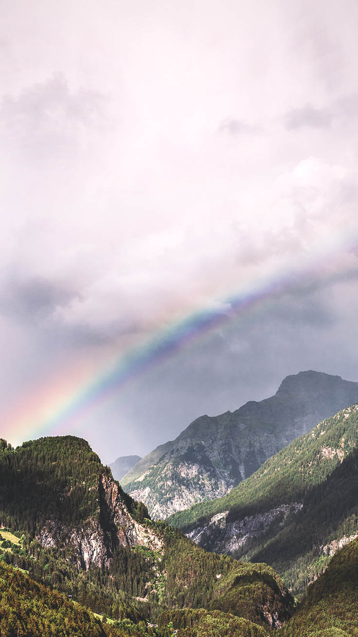 Nature Iphone Wallpapers Xs By Preppy Wallpapers   Natural Rainbow 736x1308