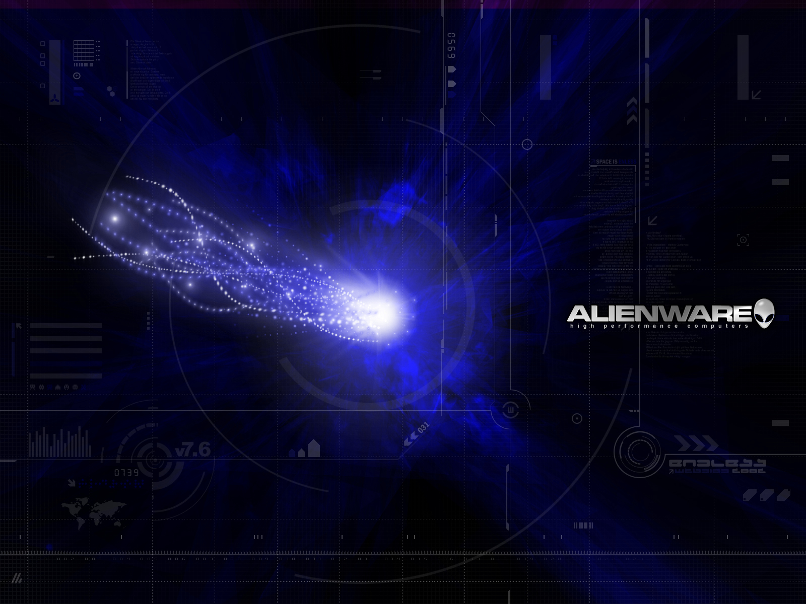 Alienware blue space wallpapers Alienware blue space stock photos 1600x1200