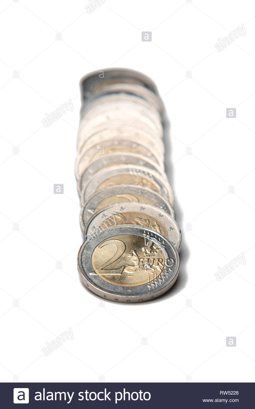 Coins organized in columns and rows isolated line on white 866x1390