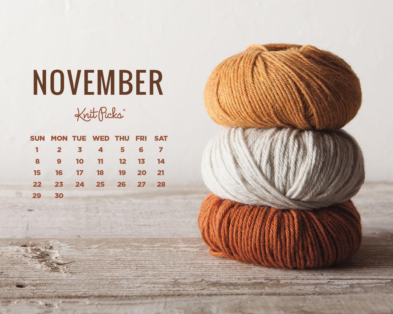 November 2015 Wallpaper Calendar | KnitPicks Staff Knitting Blog