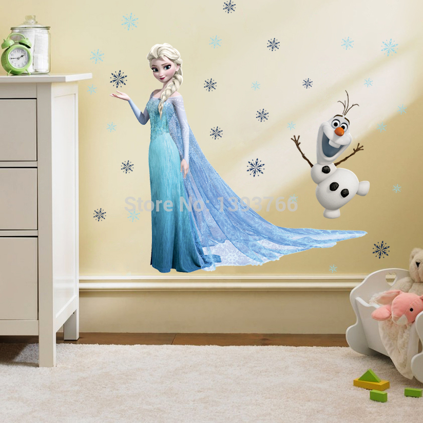 Stickers Kids Home Decor Frozen Wallpaper Bedroom Stickers For Girls 824x824