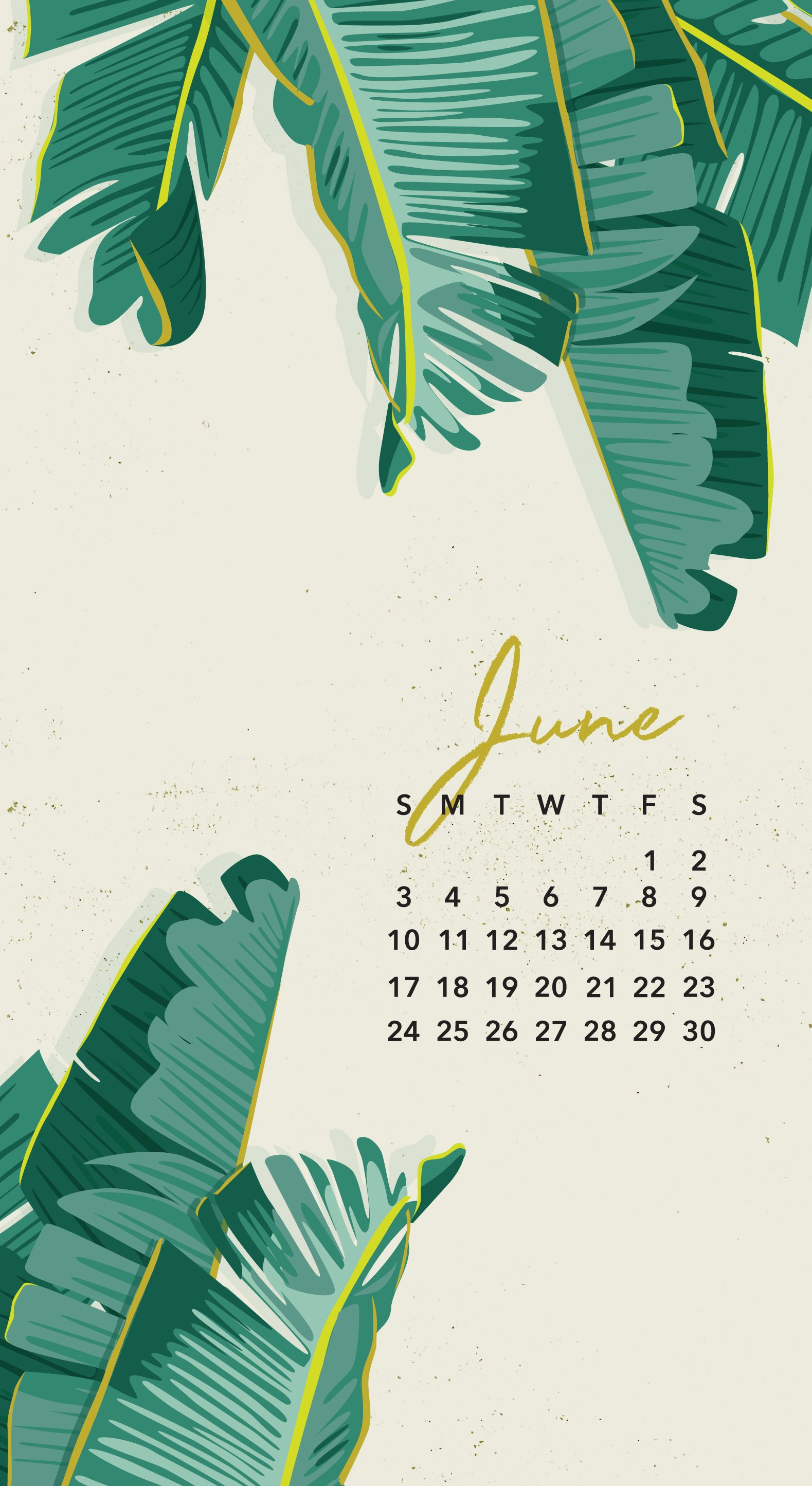 June 2018 Calendar Wallpaper 1579x2890