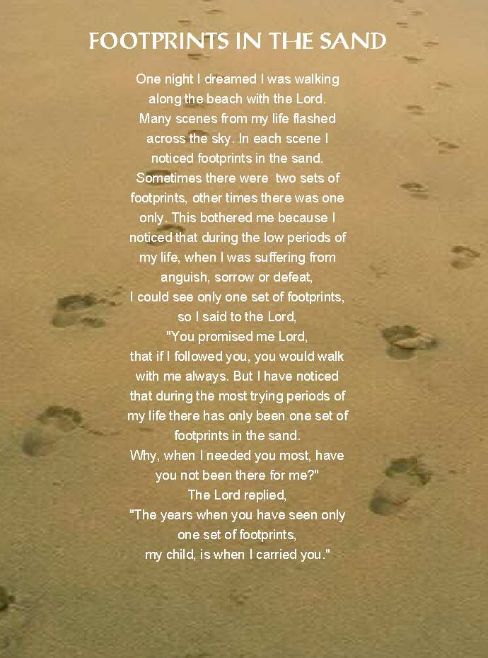 Footprints in the Sand Graphics Welcome to BoxFontcom 690x930
