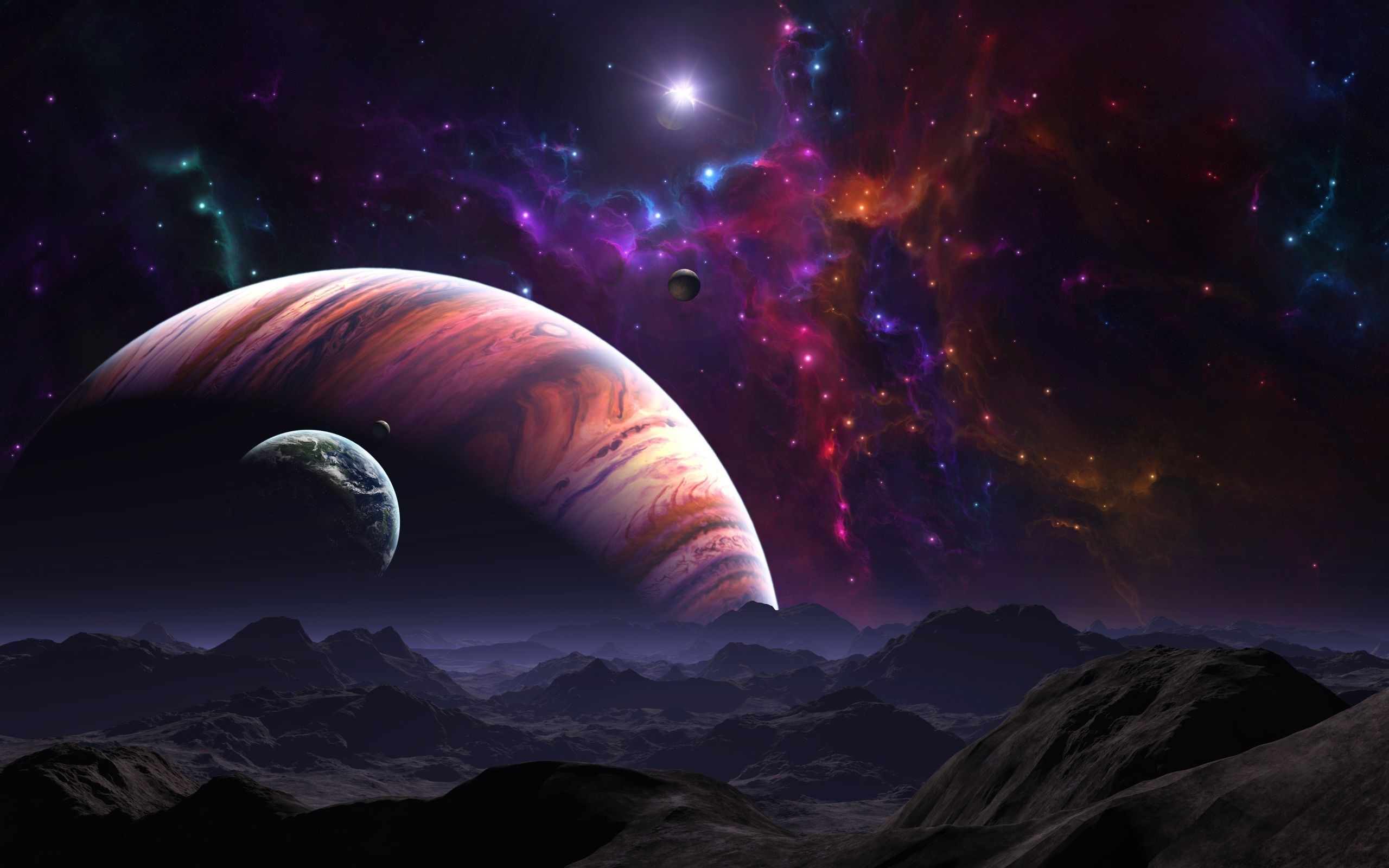wallpaper space outer background cool images 2560x1600