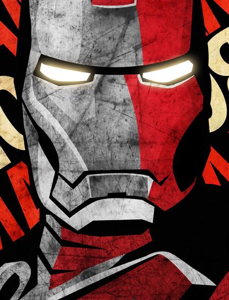 Iron Man Artistic Wallpaper for HTC Windows Phone 8S 450x590