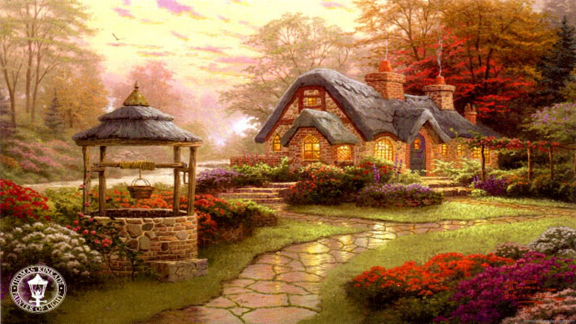 kinkade summer wallpaper drawing - photo #3