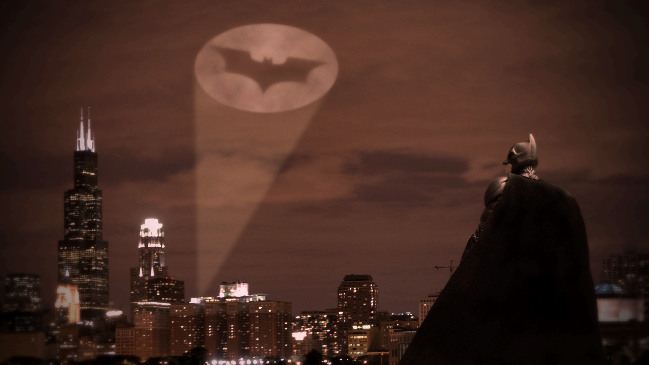 Batman Wall Mural Bat Signal Wallpaper Wallpapersafari