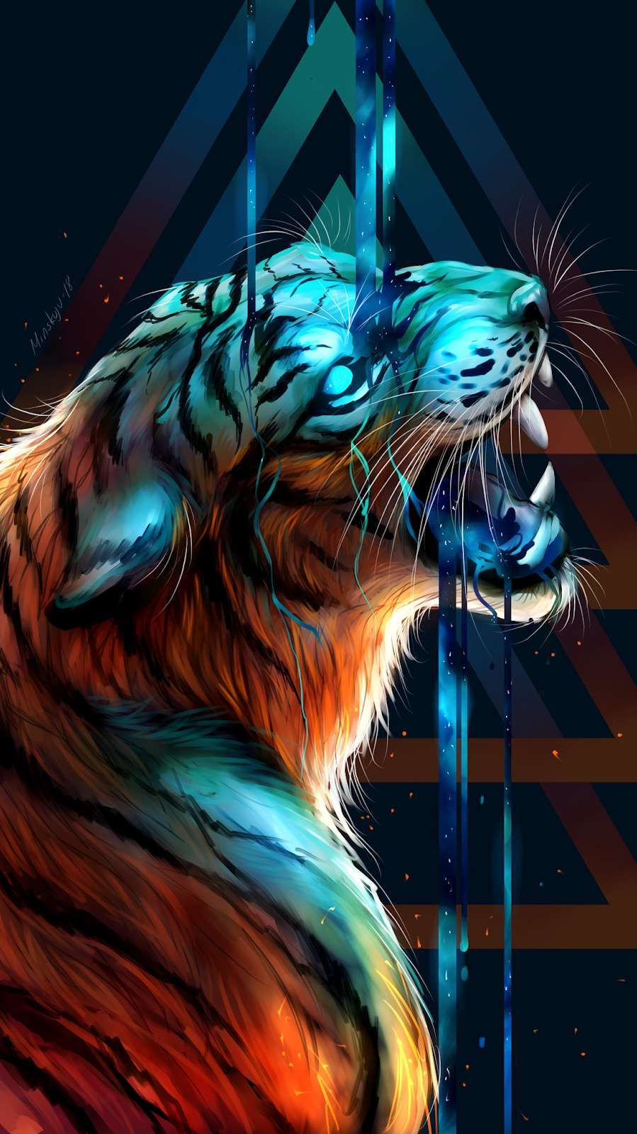 Tiger Art Wallpaper posted by Michelle Walker 899x1600