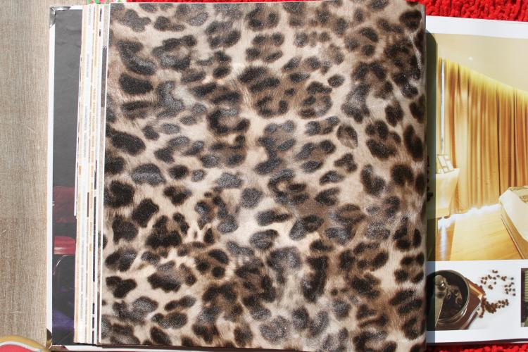 new imitation animal fur leopard wallpaper pvc bedroom living room 750x500