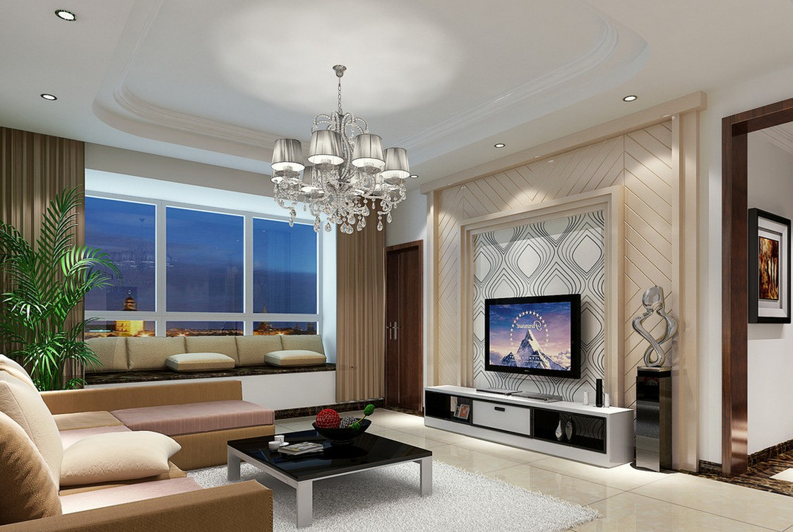 captivating living room tv wall design | [47+] Wallpaper for TV on WallpaperSafari