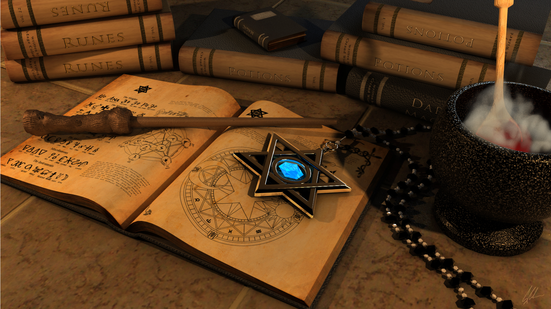 SpellBook by GarryColeman 1920x1080