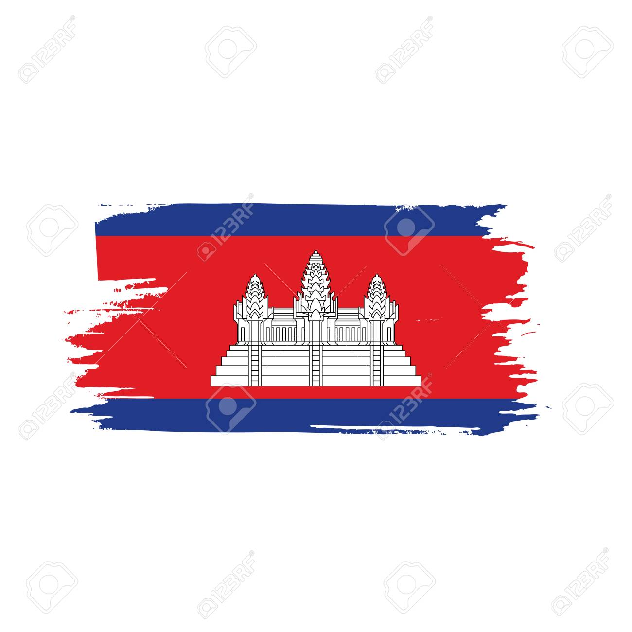 Cambodia Flag Vector Illustration On A White Background Royalty 1300x1300