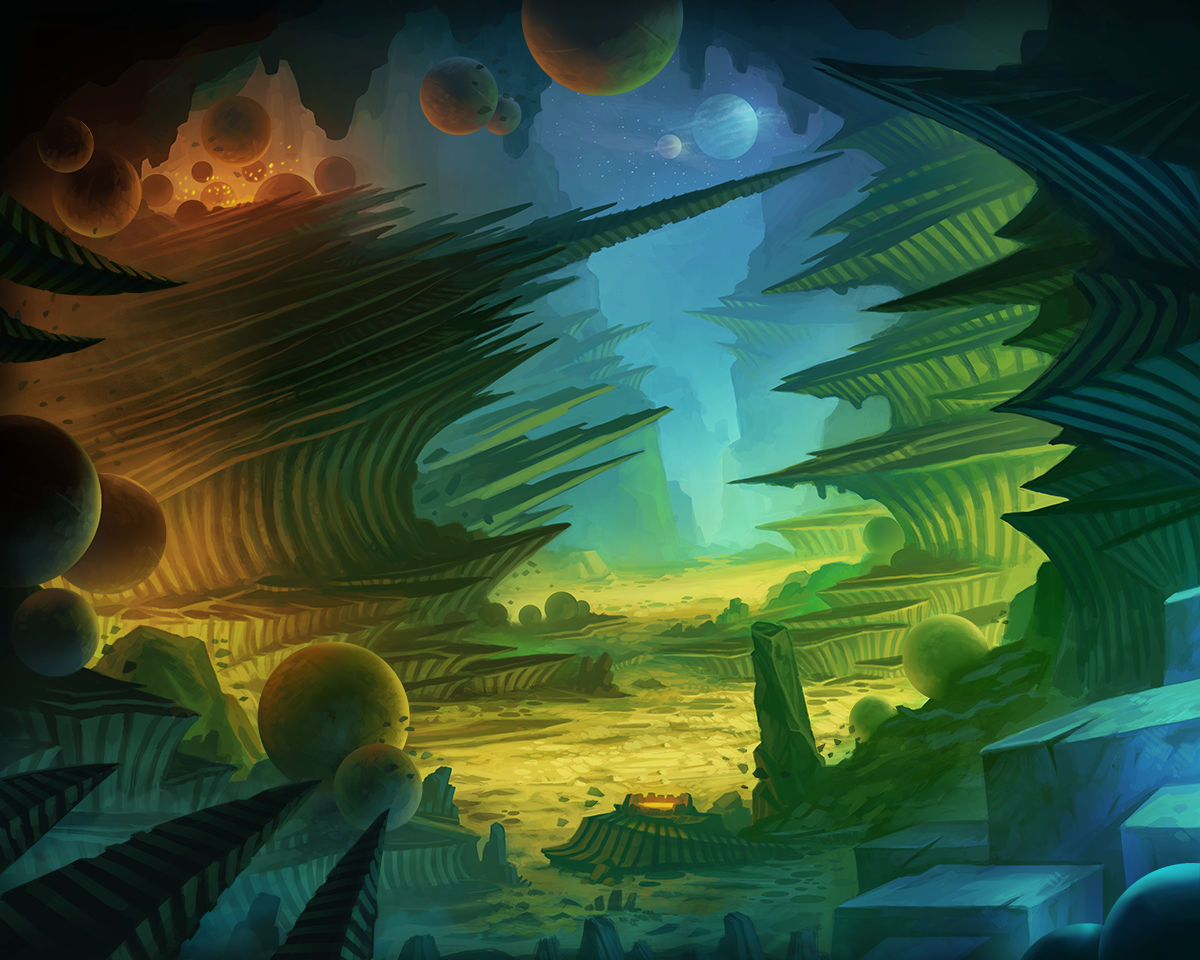 Alien Landscape Wallpaper - WallpaperSafari