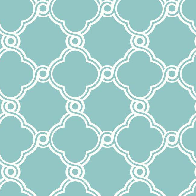 District17 Turquoise Open Trellis Wallpaper Wallpaper 650x650