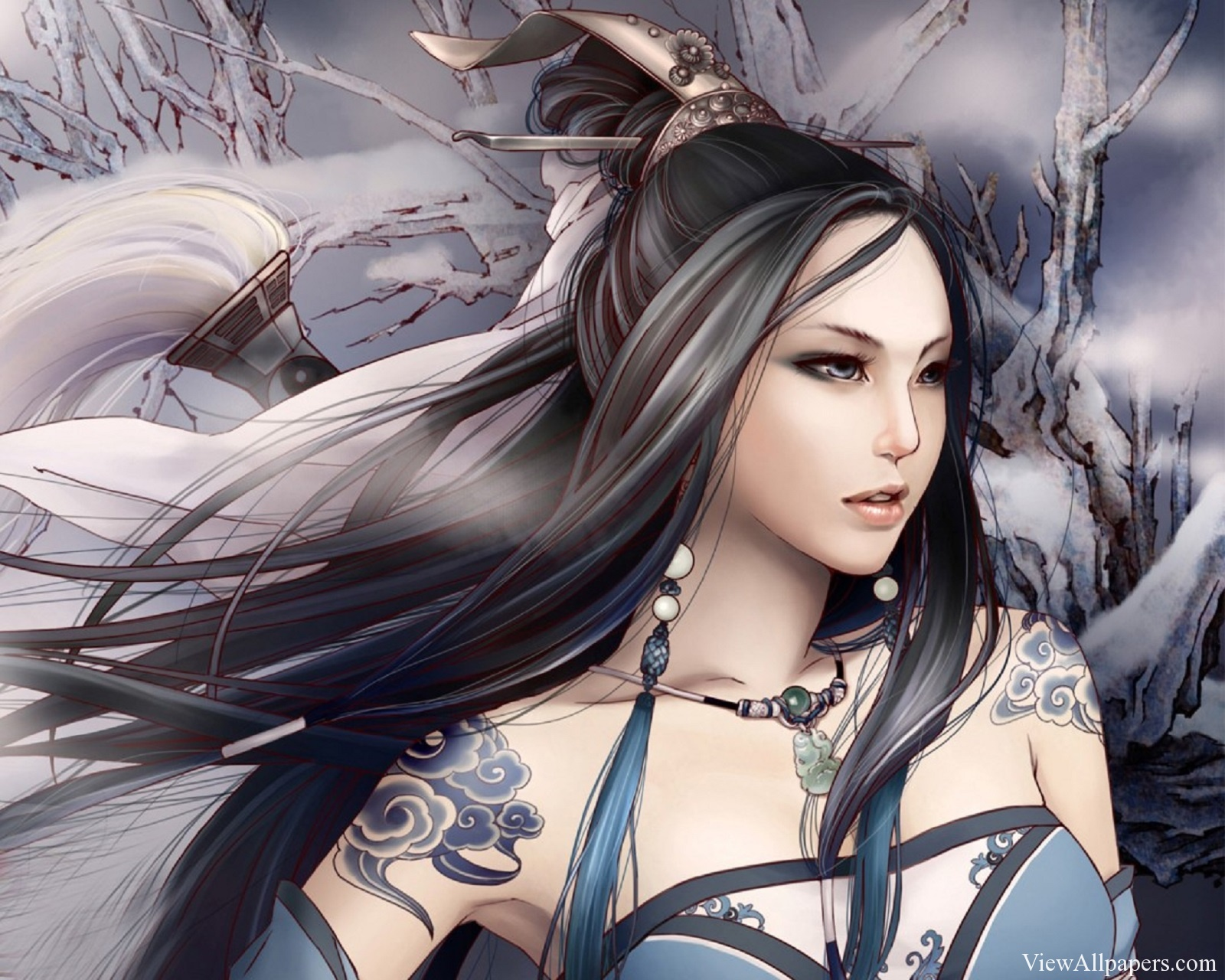 Anime Beauty Girl Warrior Wallpaper Anime HD Wallpapers 1600x1280