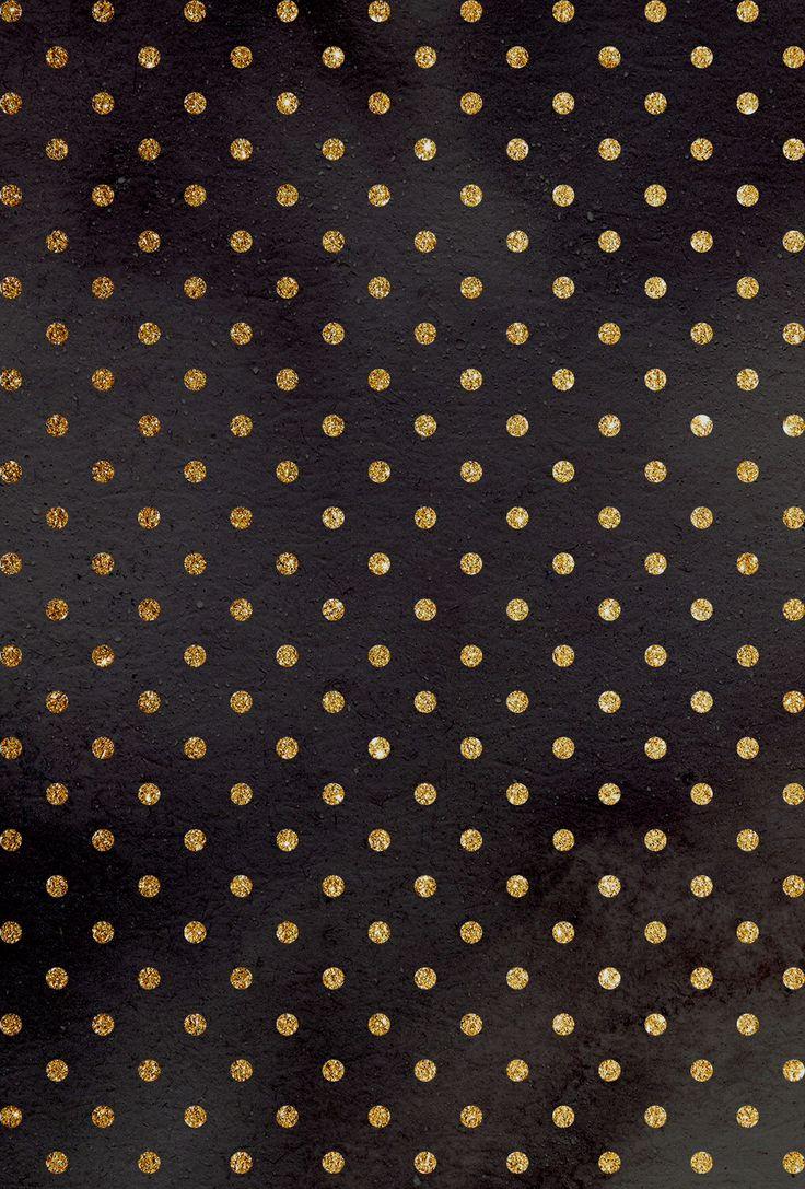 Iphone wallpapers Pinterest Gold Polka Dots Polka Dots and Dots 736x1087