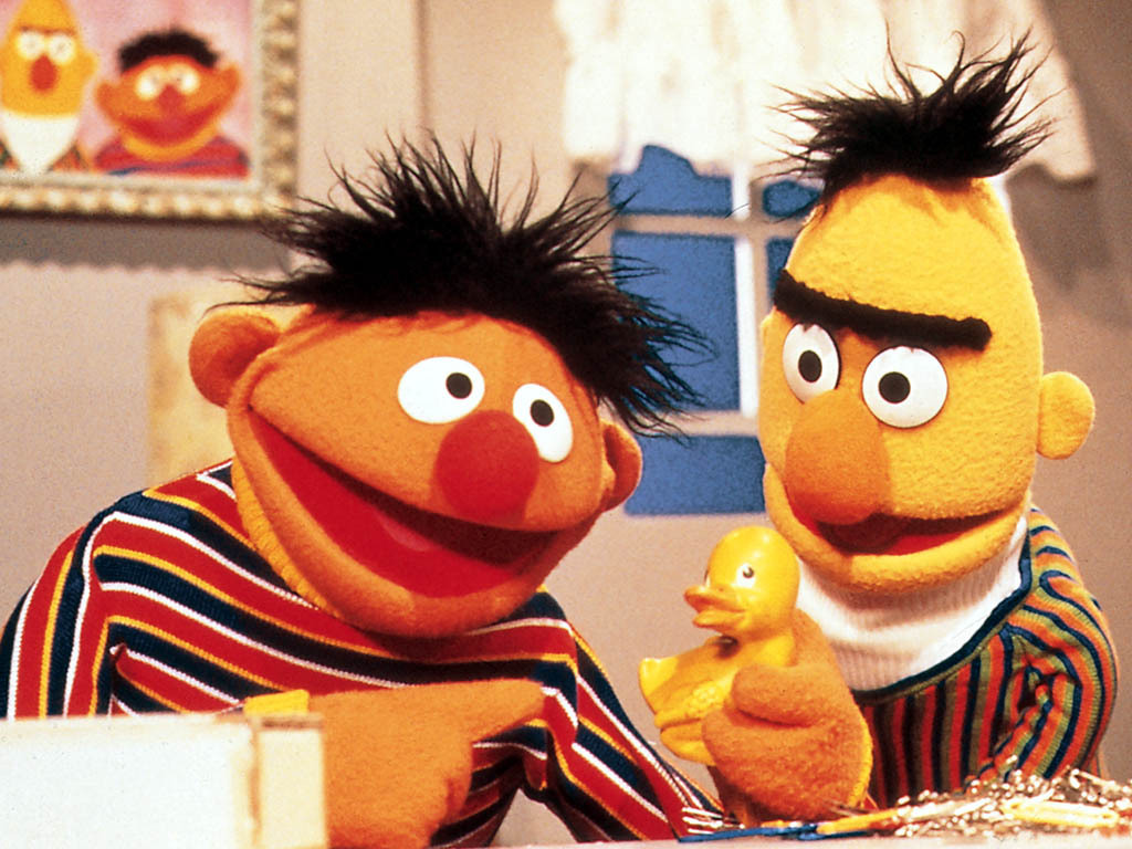 Ernie and Bert   Ernie and Bert Wallpaper 9661521 1024x768