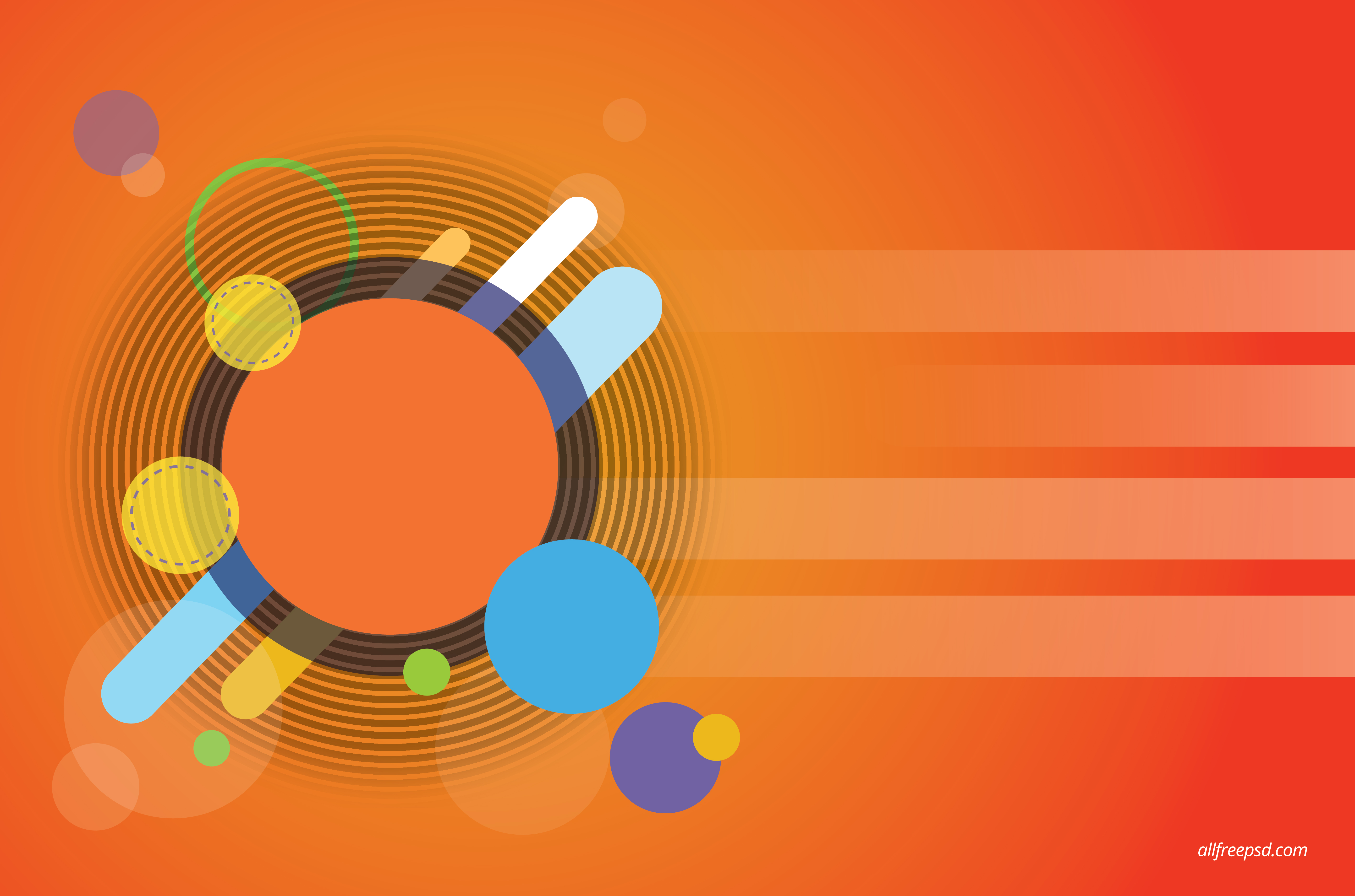Orange Circle Abstract Background   psd and graphic designs 5667x3750