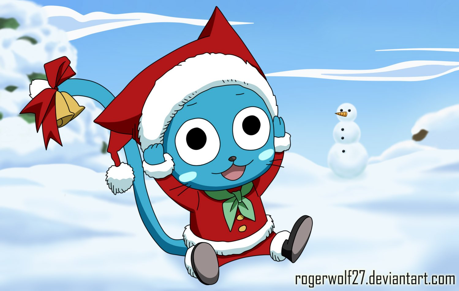 Fairy Tail Wallpaper Happy Aye Happy   merry christmas by 1499x951