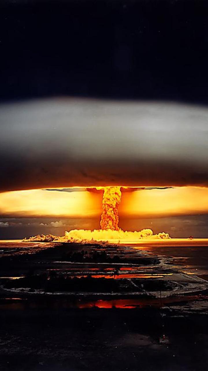 bomb mushroom explosion nuclear nuke HD Wallpaper   Army Military 720x1280
