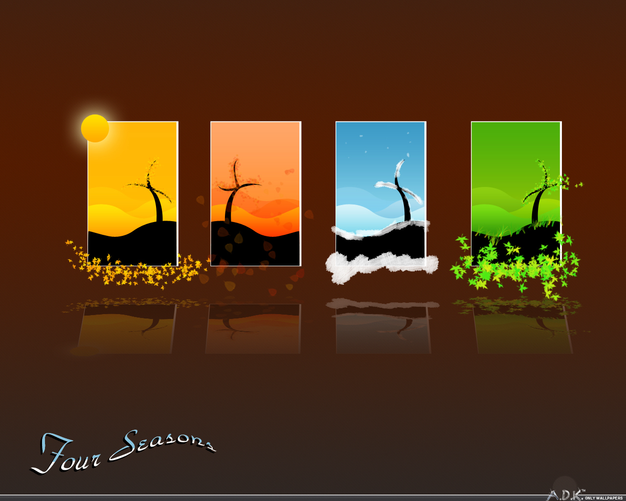 Four Seasons Backgrounds Desktop Image 1280x1024