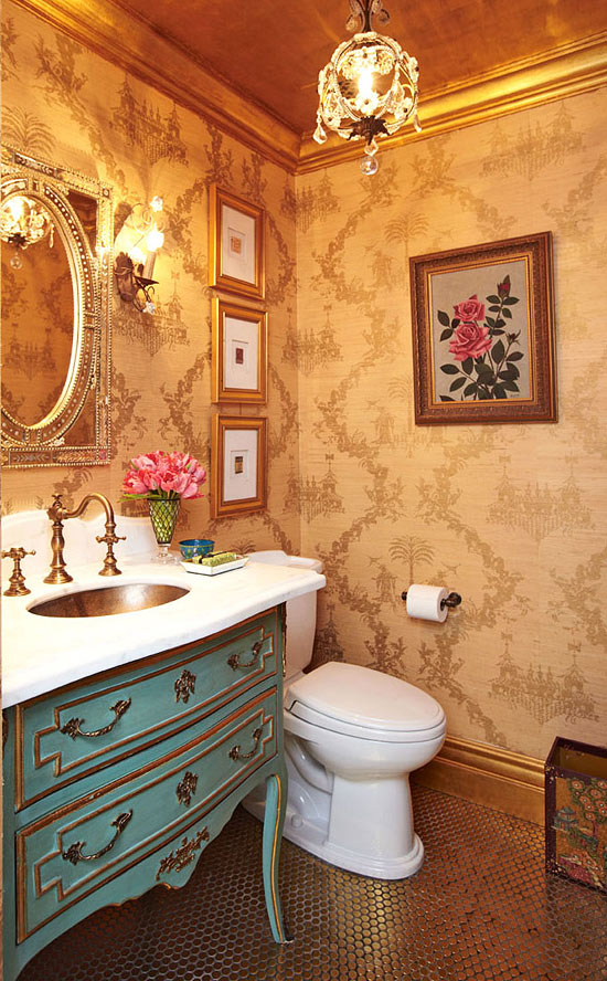 bible blog ideas how to bathroom makeover pot of gold metallic 550x888
