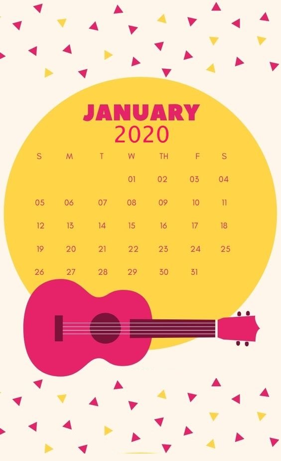 21 Cute January Calendar 2020 Floral Wallpaper For Desktop iPhone 564x924