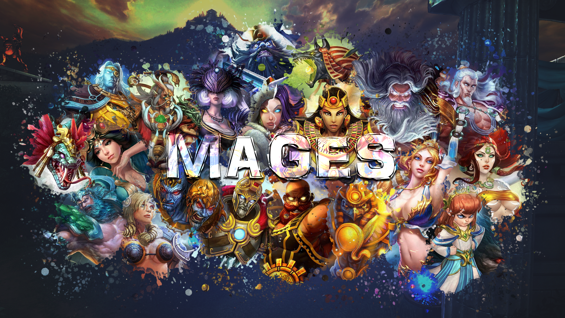 smite mages wallpaper nox edition by getsukeii watch fan art wallpaper 1920x1080