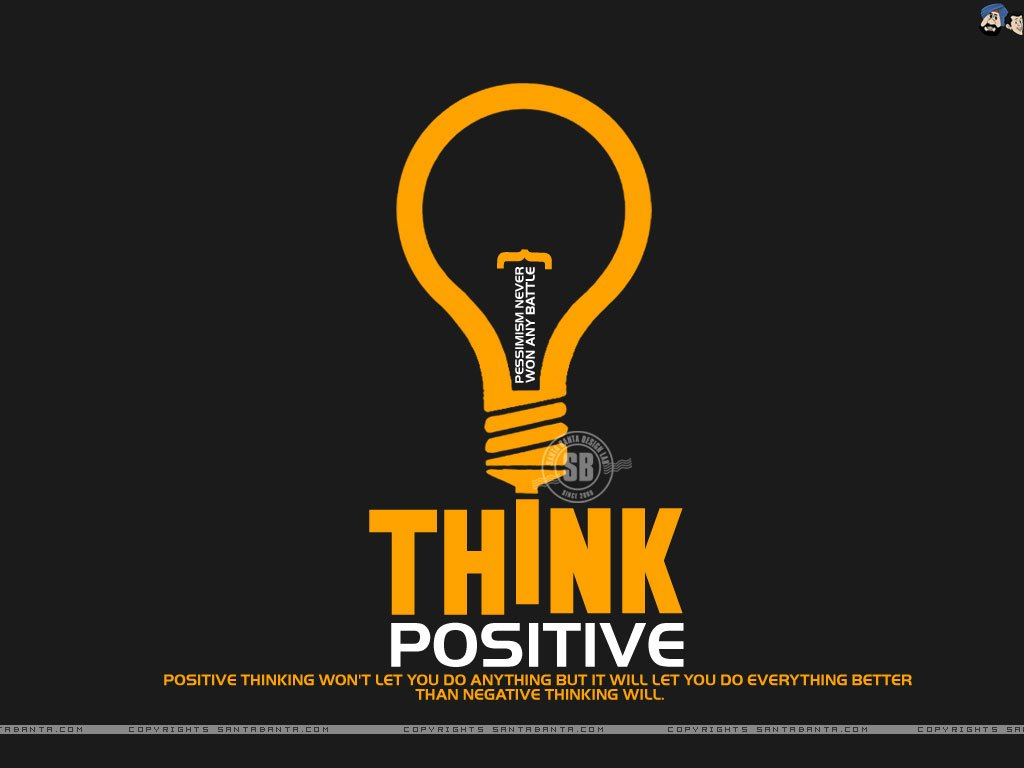 Motivational wallpaper on Positive Thinking Positive Thinking will 1024x768