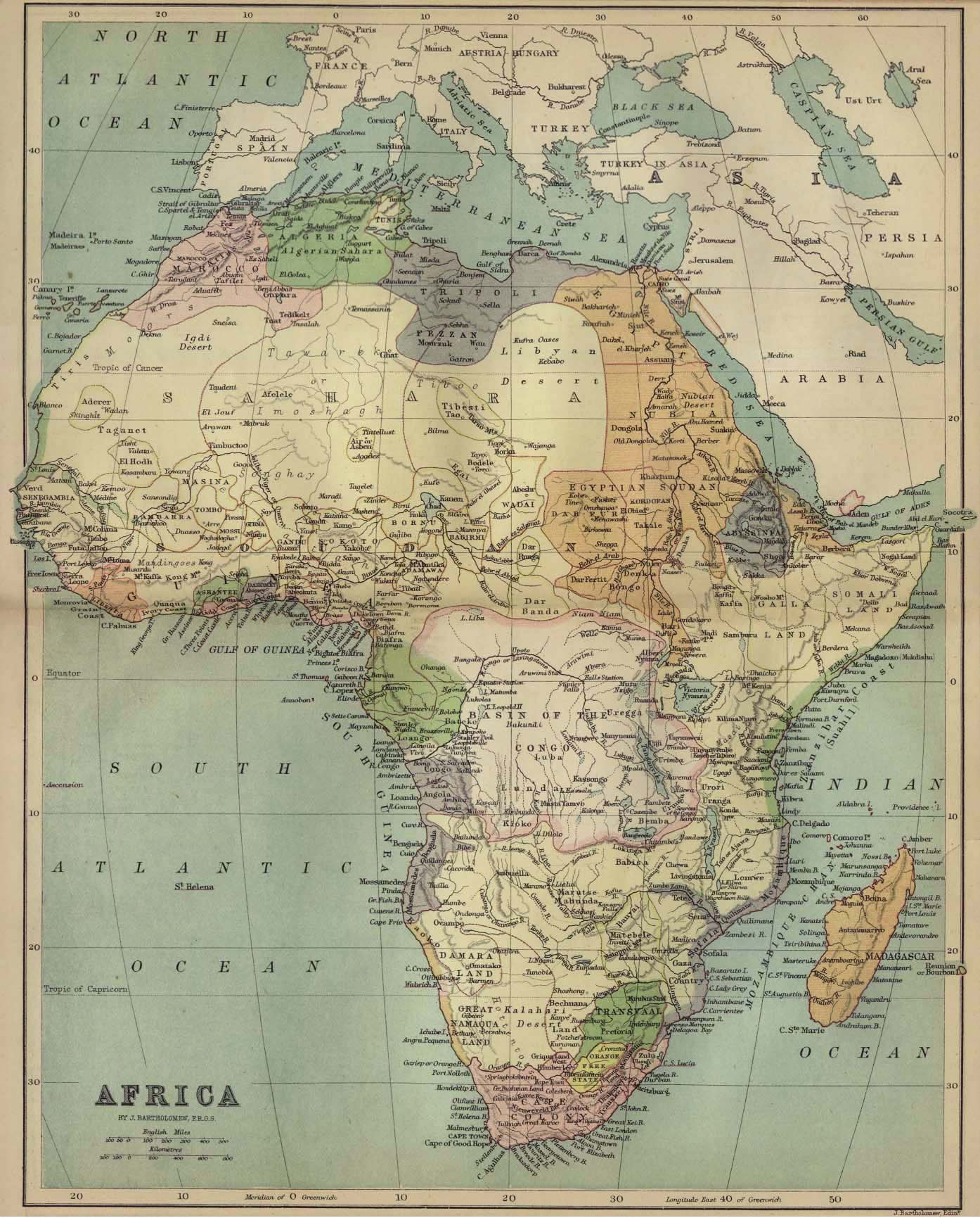 Africa Map Wallpapers 1394x1731