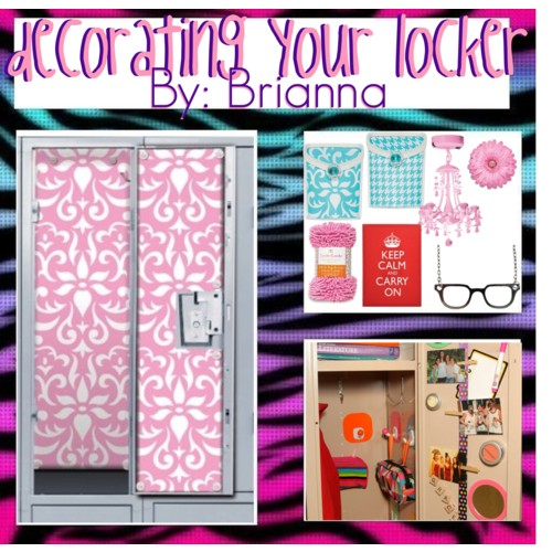 decorating your locker polyvore - How To Decorate Your Locker