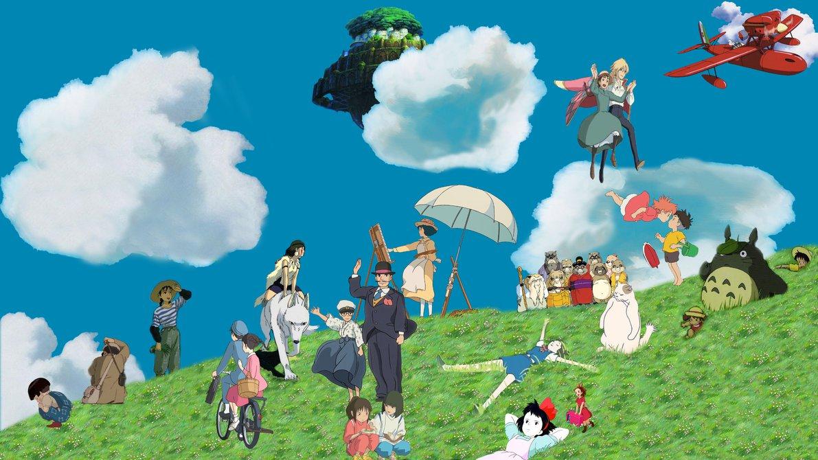 Ghibli wallpaper  Wip  by 3DBenjamin 1191x670