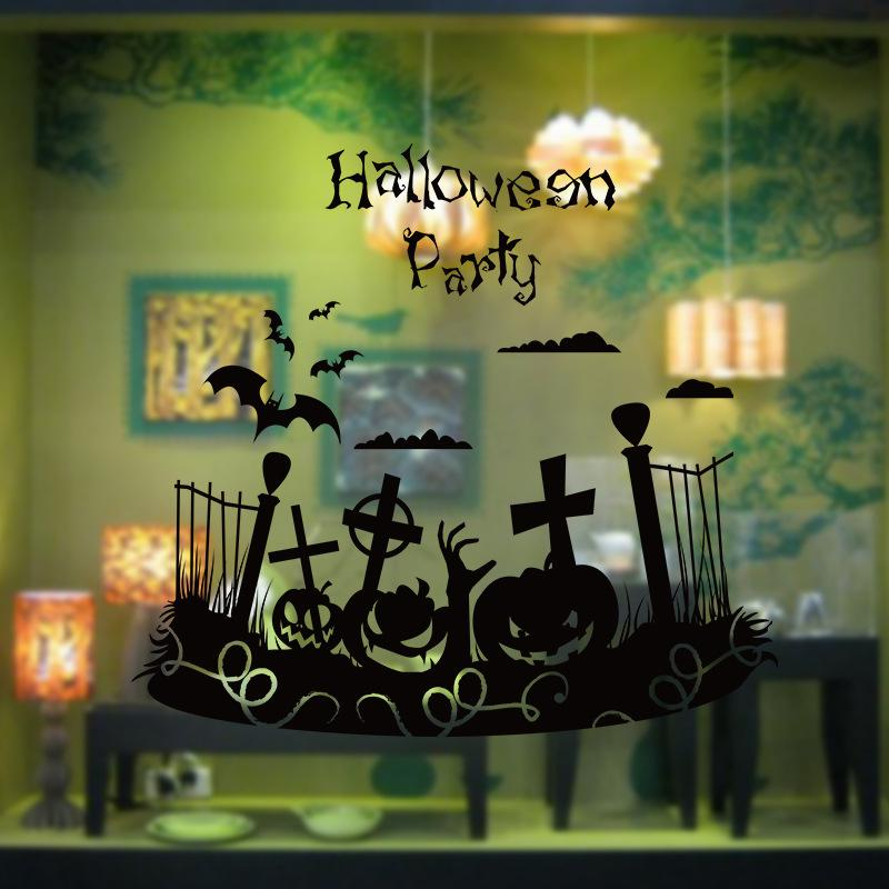 Halloween Pumpkin Face Wall Stickers Bat Christian Cross Wall 800x800