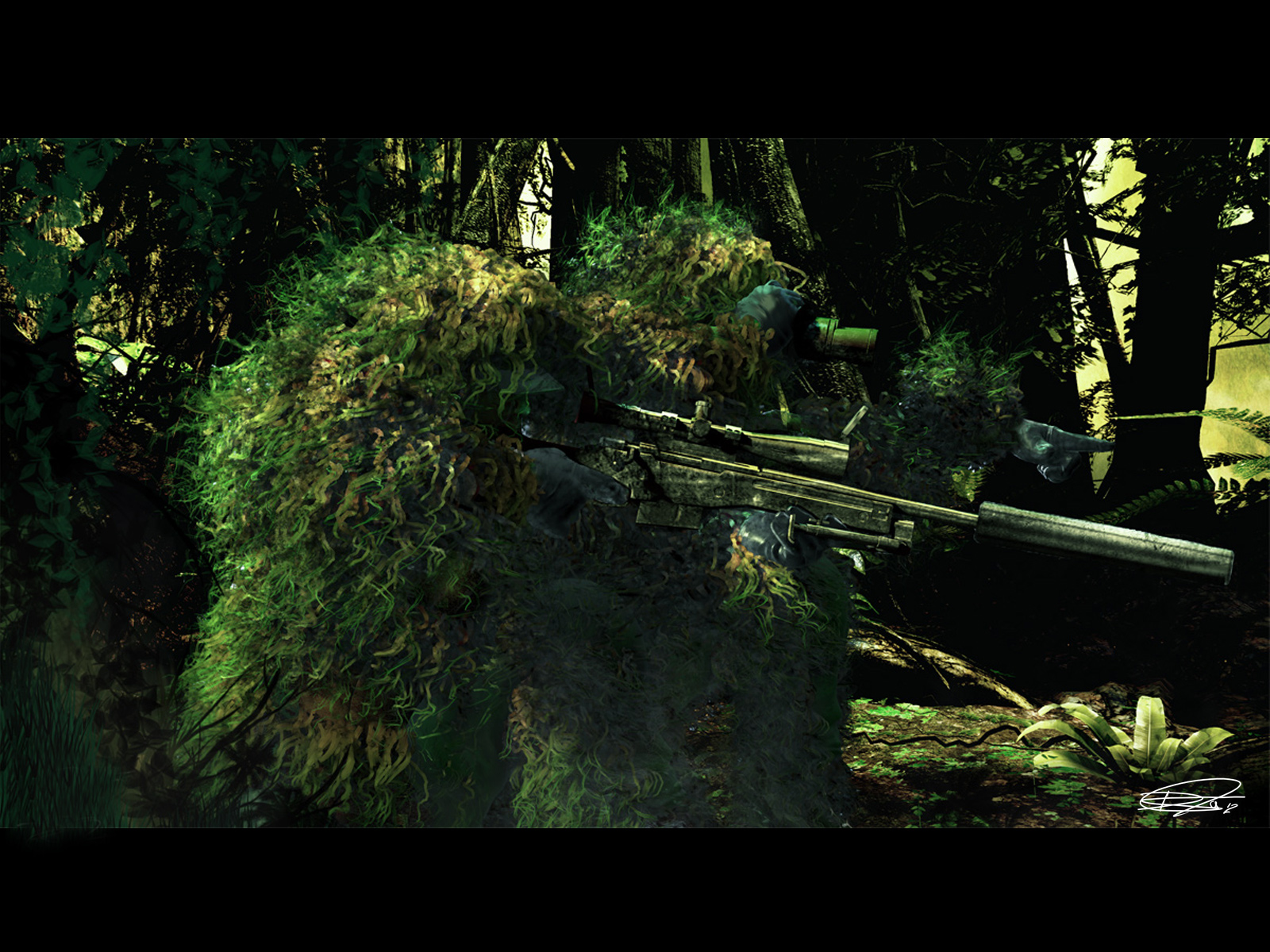 US Marine Scout Sniper Team Computer Wallpapers Desktop Backgrounds 1600x1200